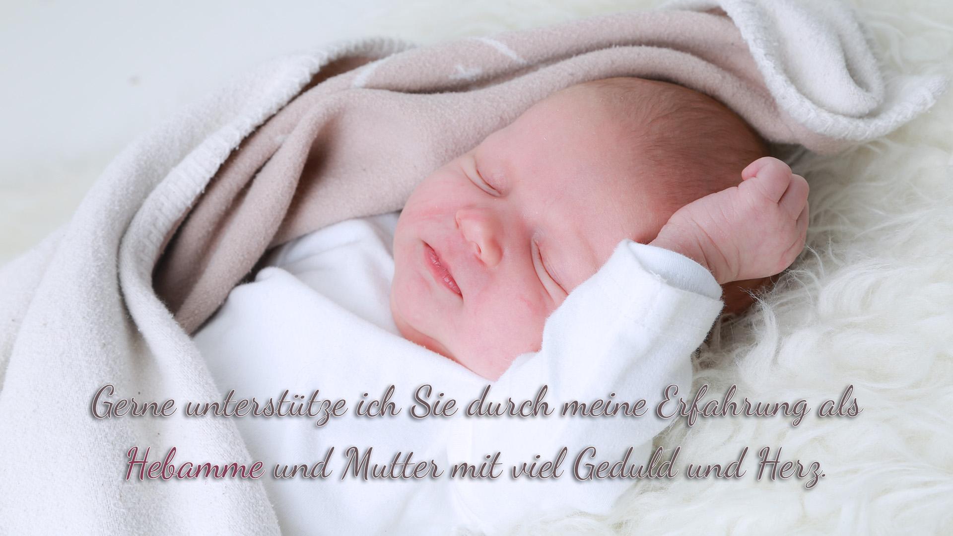 Gerne unterstütze ich - Daniela Scheidl - Sie durch meine Erfahrung als Hebamme und Mutter mit viel Geduld und Herz.